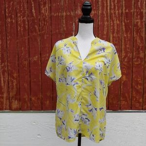 CABI Yellow Floral Stevie Blouse Style #5213